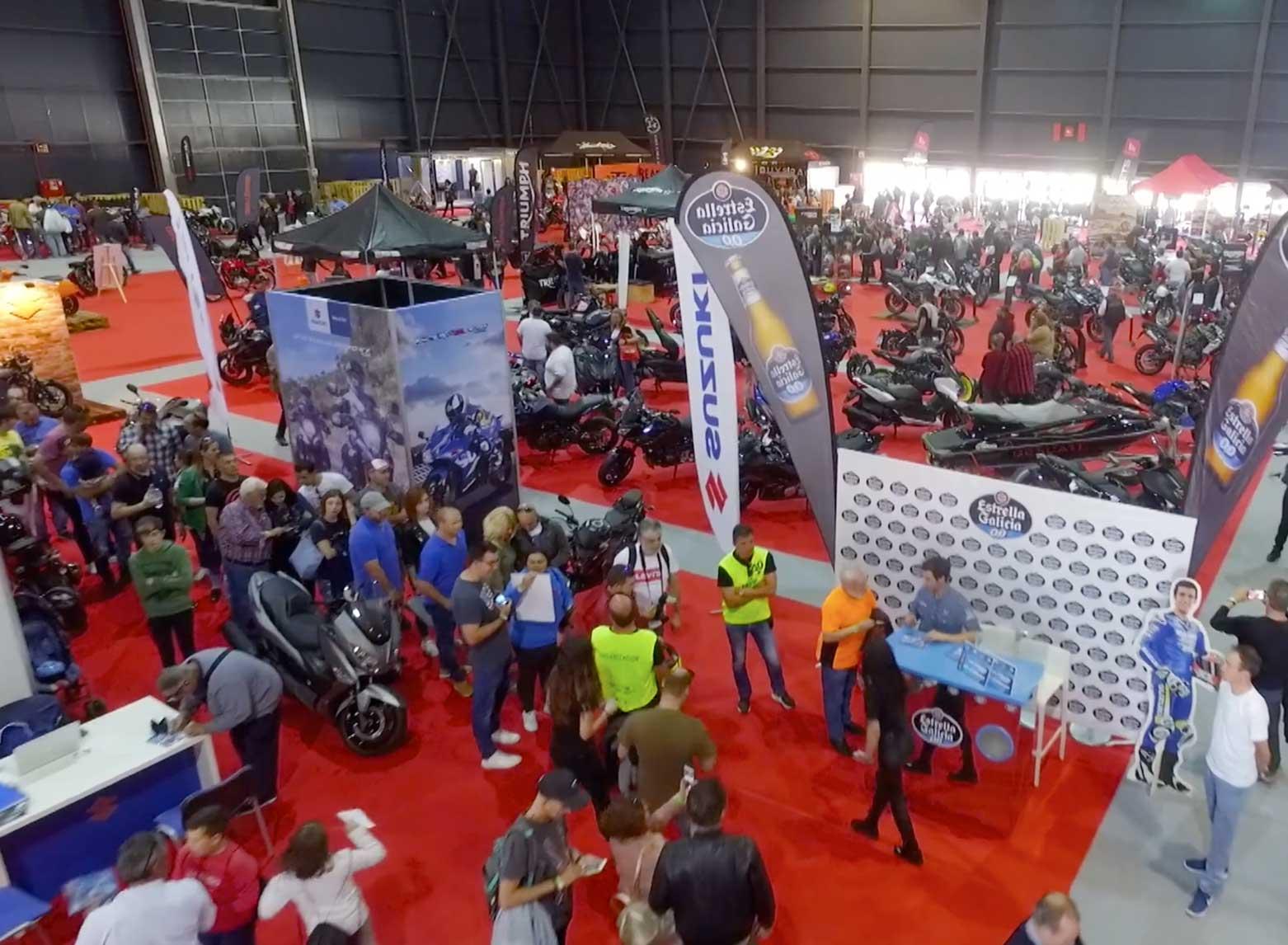 Salón de la moto de Gijón Motoweekend, en España